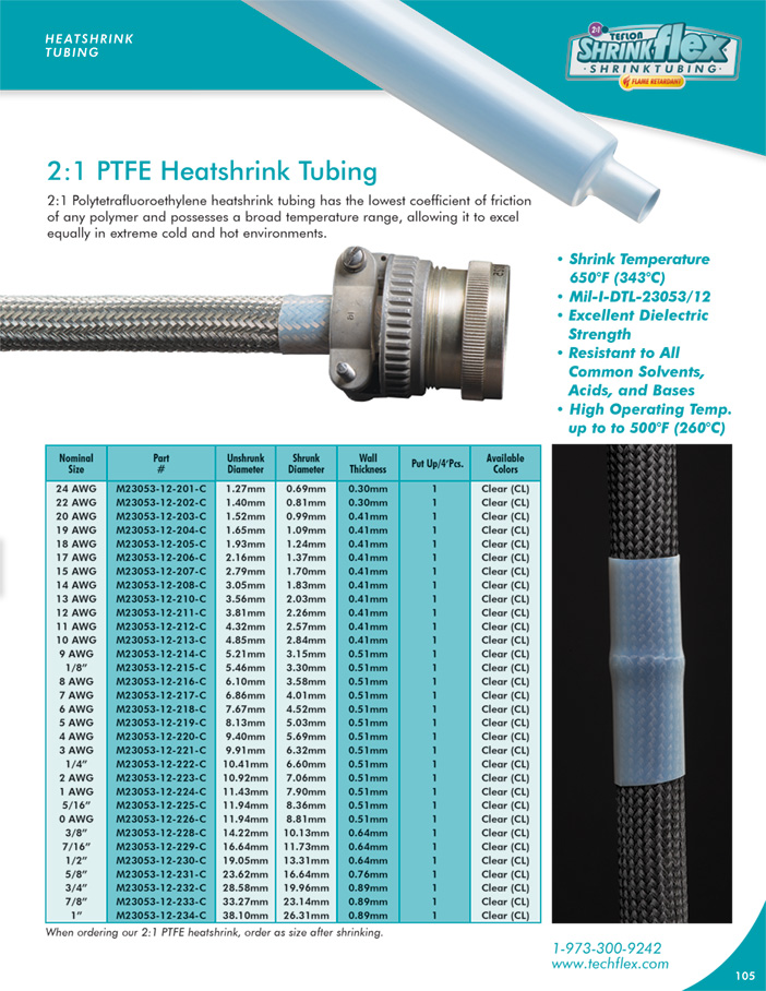2:1 PTFE Hot Fusion Tape  catalog page image