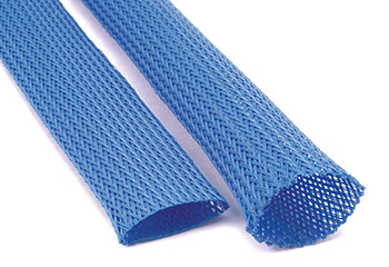 heat treated rounded expandable sleeving for easier installation