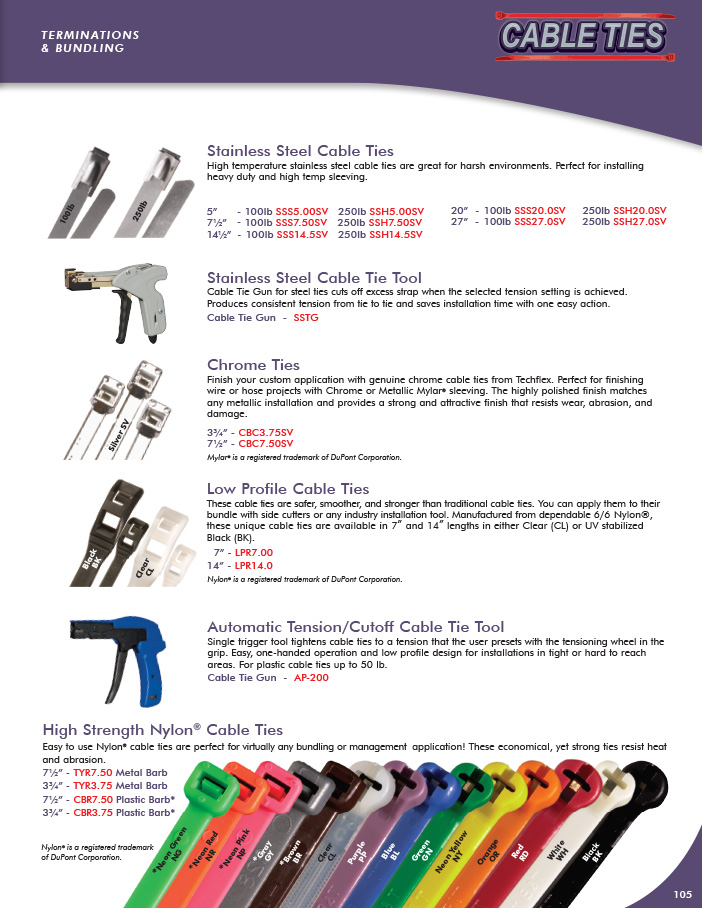 Cable Ties catalog page image