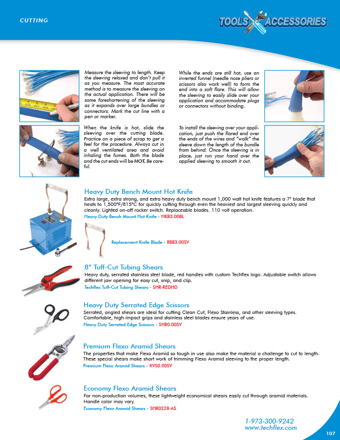 Cutting Tools catalog page image