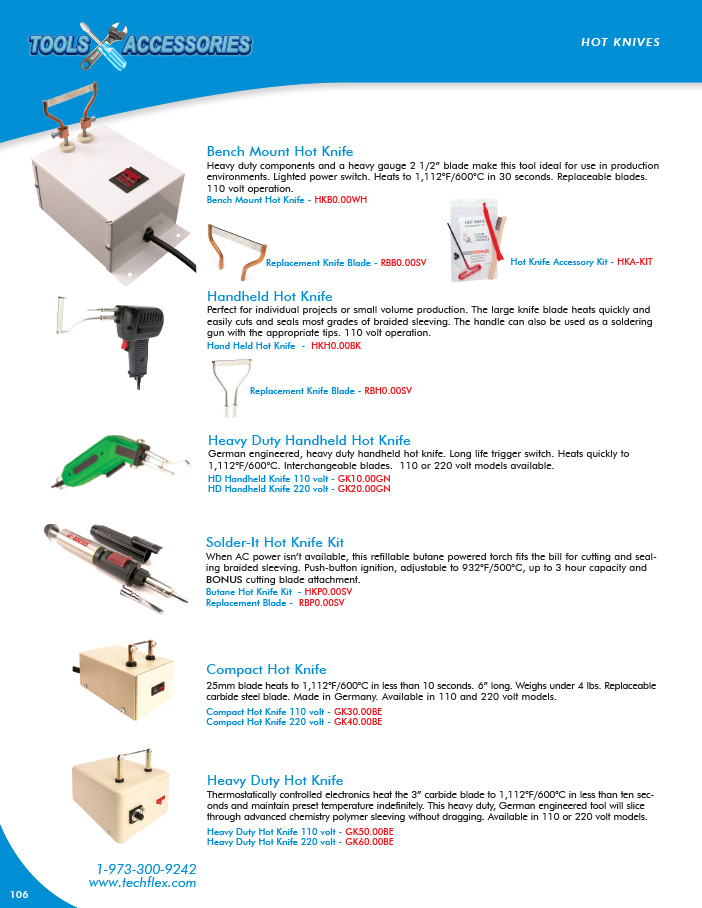 Hot Knives catalog page image