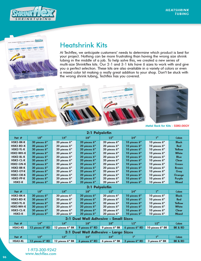 Heatshrink Kits catalog page image