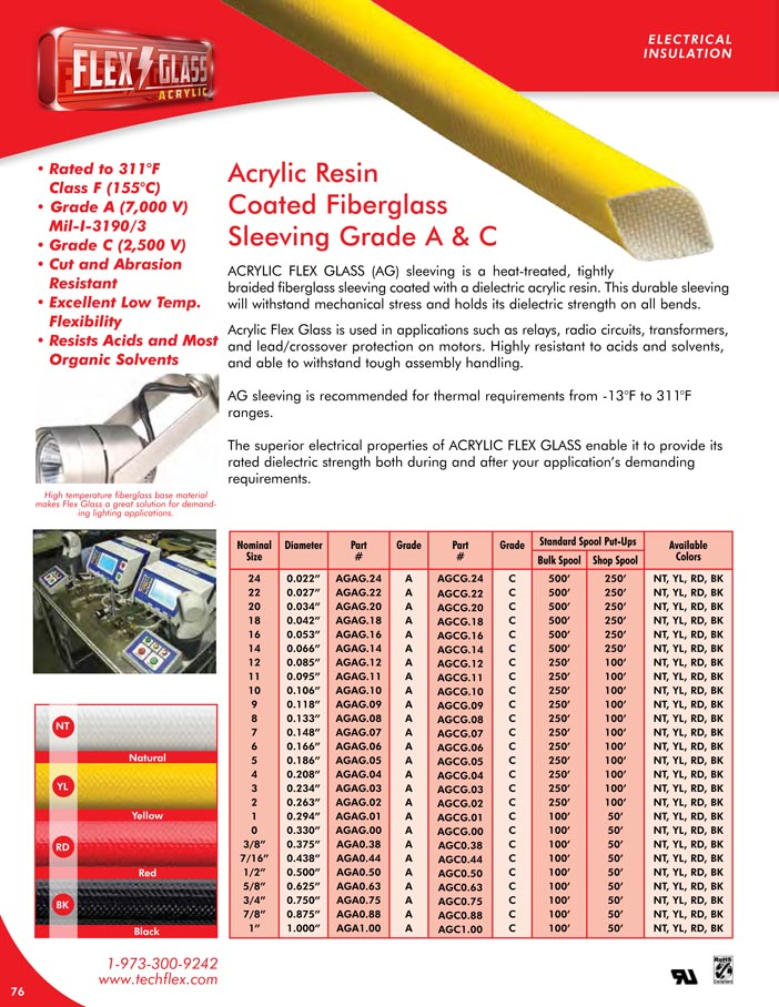 Acrylic Flex Glass catalog page image