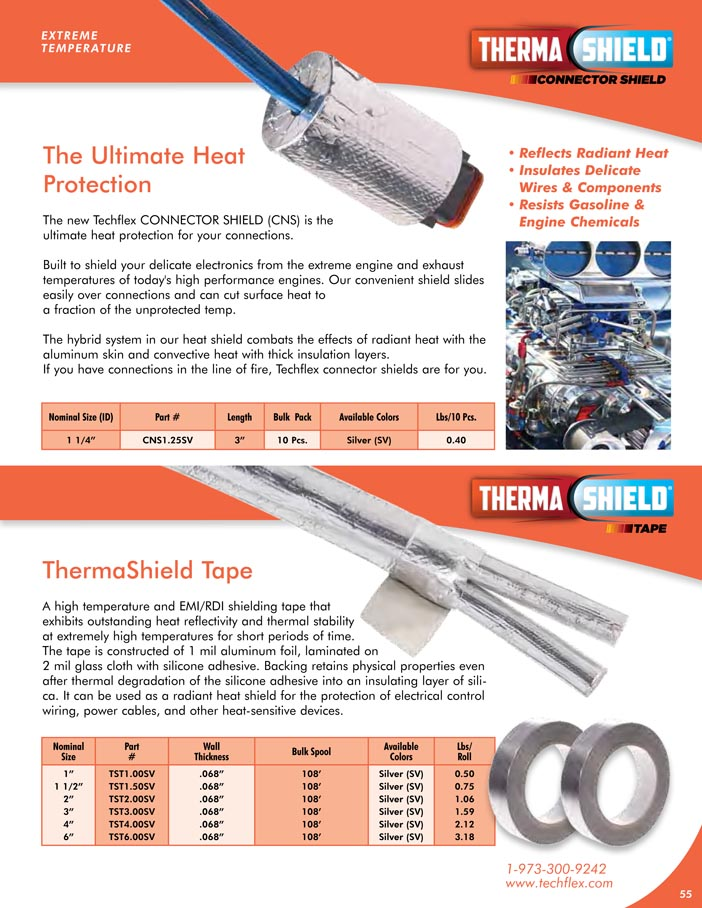 Connector Shield TS Tape catalog page image