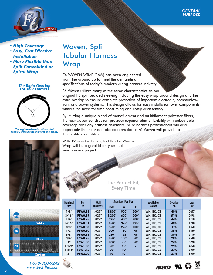 F6 Woven Wrap catalog page image