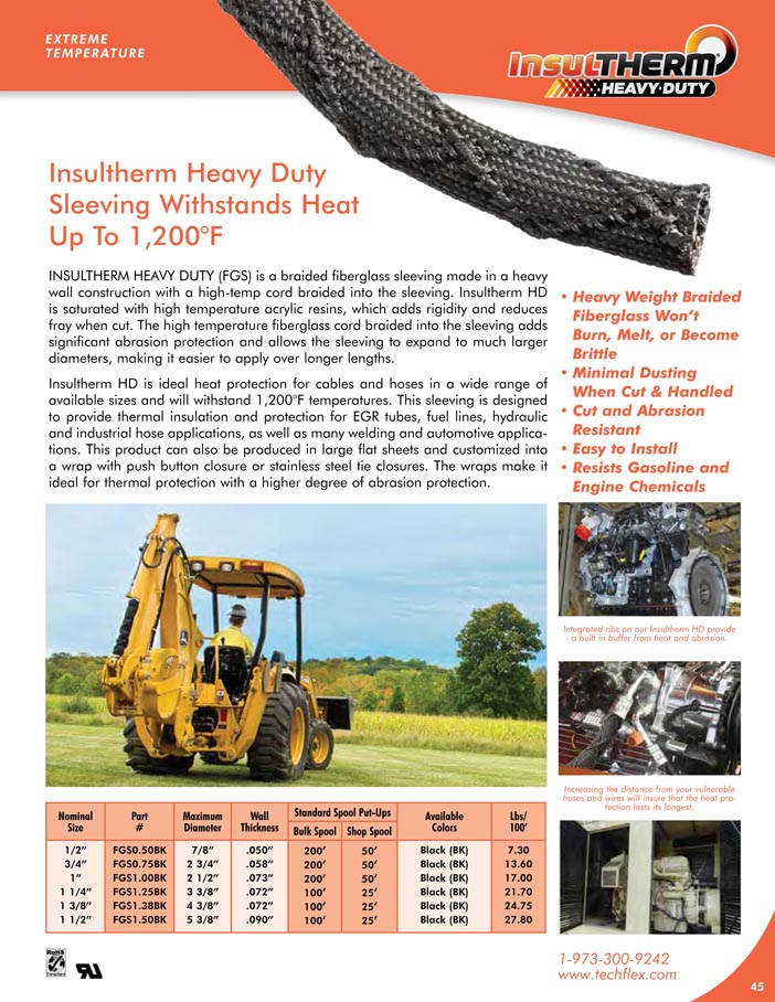 Insultherm Heavy Duty catalog page image