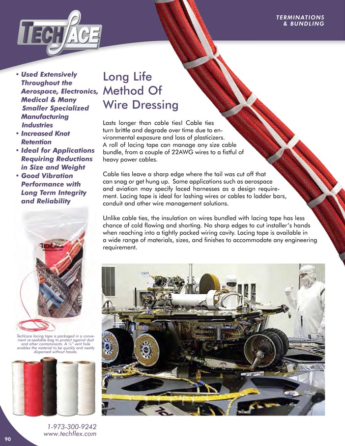 Lacing Tape catalog page image