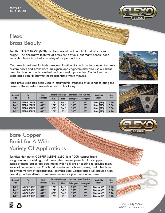 Metal Braid Brass and Copper Catalog Image