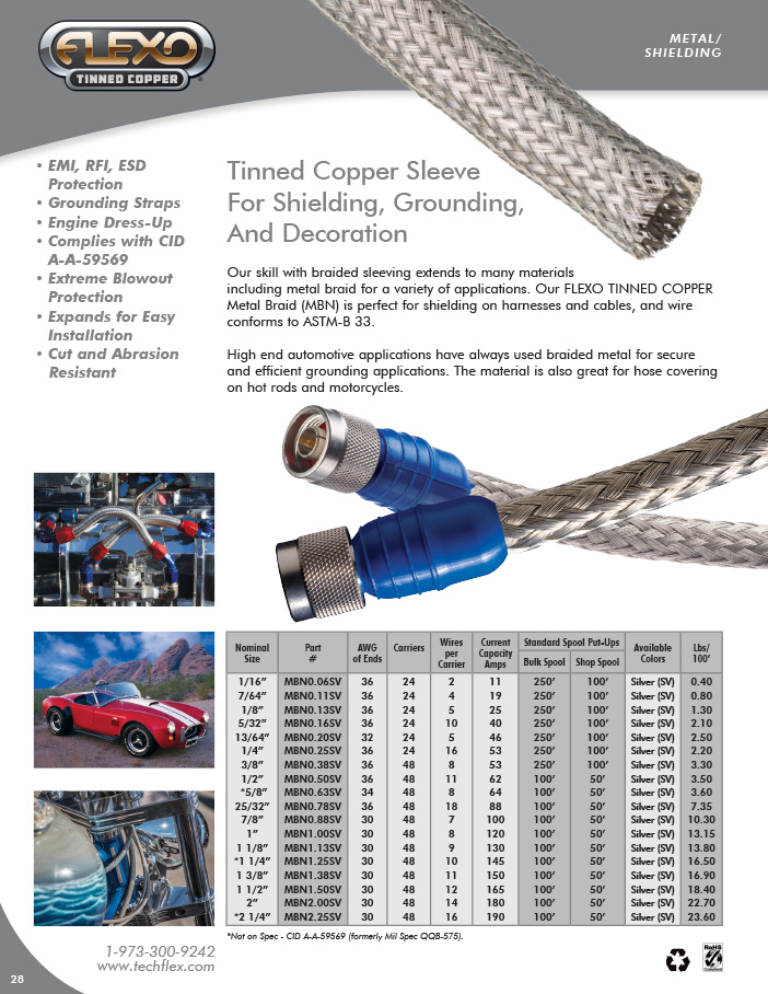 Tinned Copper catalog page image