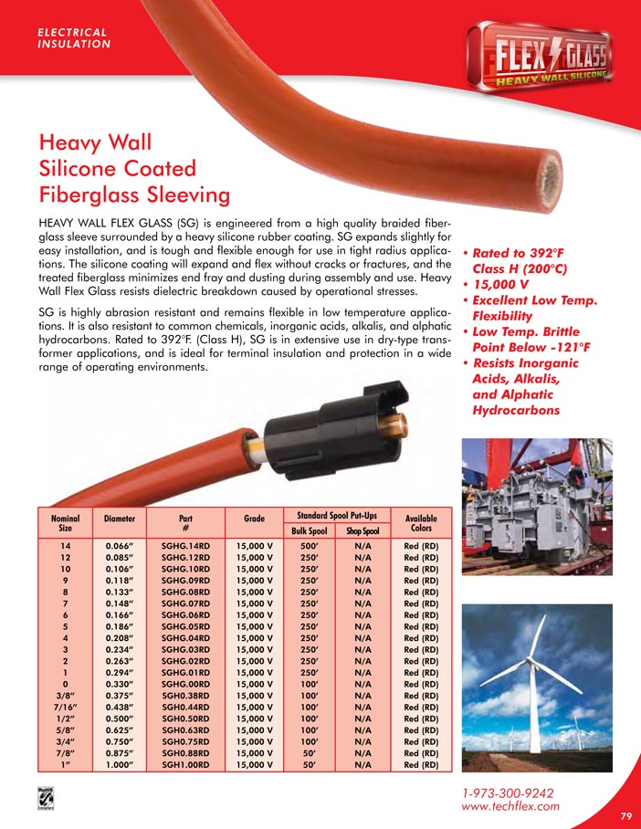 HW Silicone Flex Glass catalog page image