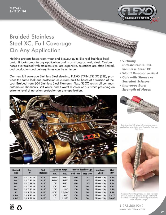 Flexo Stainless Steel XC catalog page image