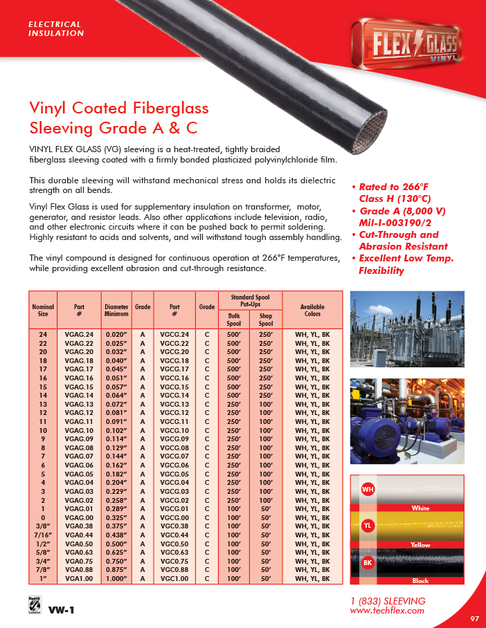 Vinyl Flex Glass catalog page image