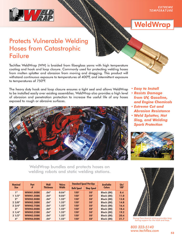 WeldWrap catalog page image