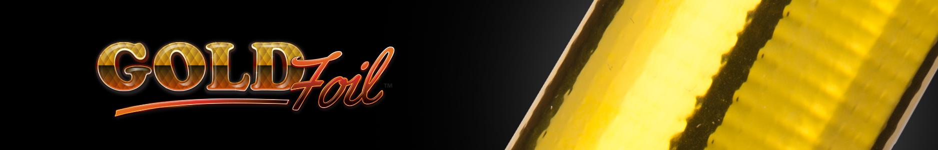 Gold foil banner
