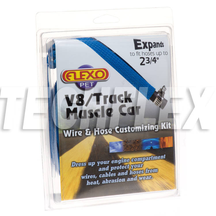 V8/Truck/Muscle Car Kits - Blue - 6 sizes - Shrink & Ties
