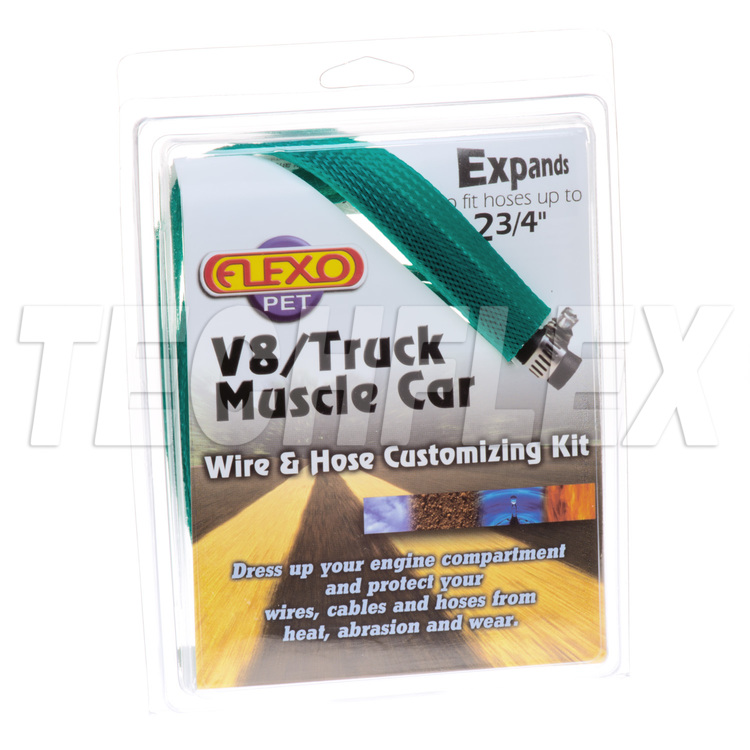 V8/Truck/Muscle Car Kits - Green - 6 sizes - Shrink & Ties