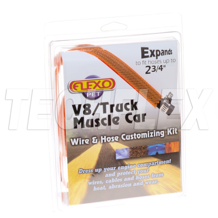 V8/Truck/Muscle Car Kits - Orange - 6 sizes - Shrink & Ties