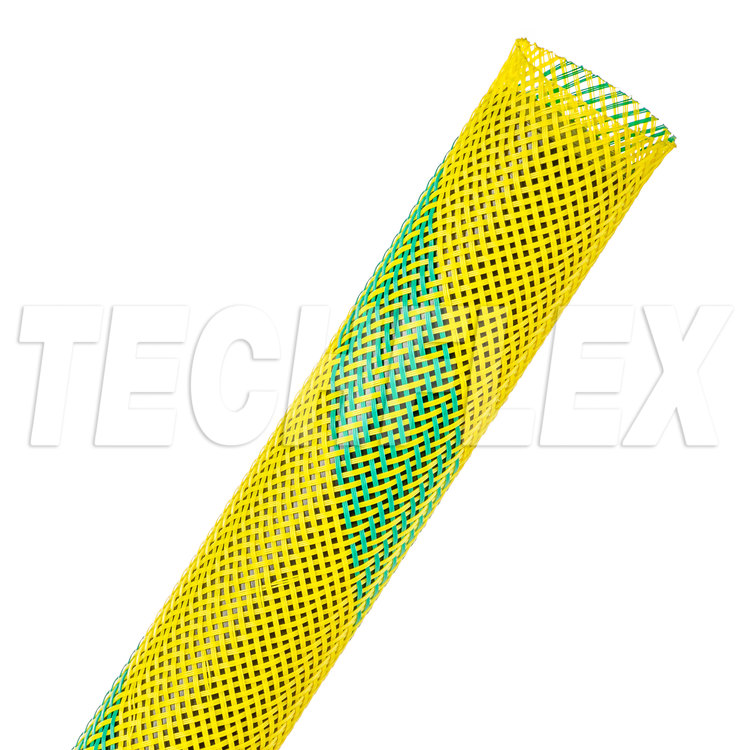 "Flexo® PET - 3/4"" - Nitrox (UV Yellow w/ Green Stripe)"