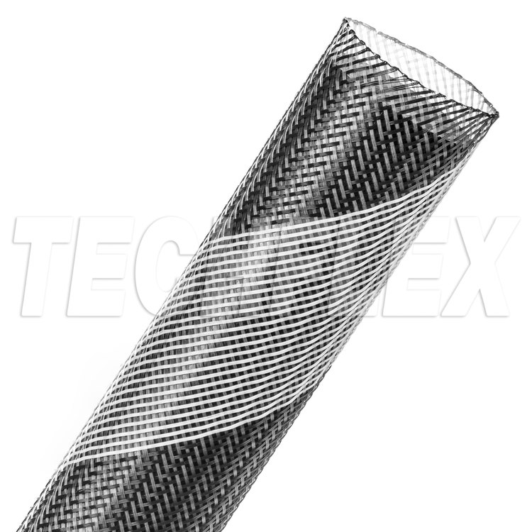 "Flexo® PET - 1-1/4"" - Monochrome (Black w/ White Stripe)"