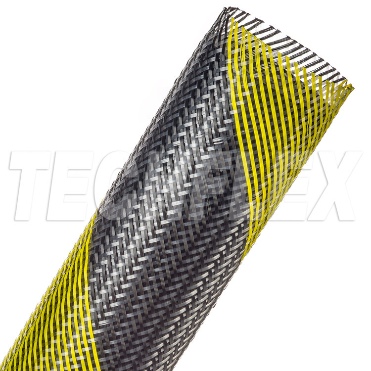 "Flexo® PET - 1 1/2"" - Safety Stripe (Black / UV Yellow)"