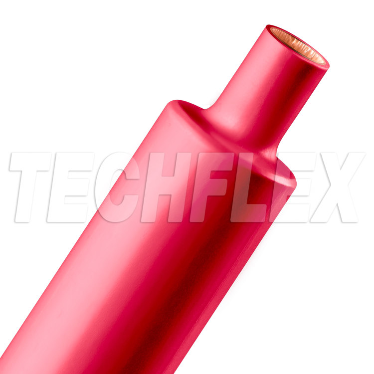 "Shrinkflex® 2:1 Dual Wall Adhesive - 1 1/2"" - 4ft Stick - Red"