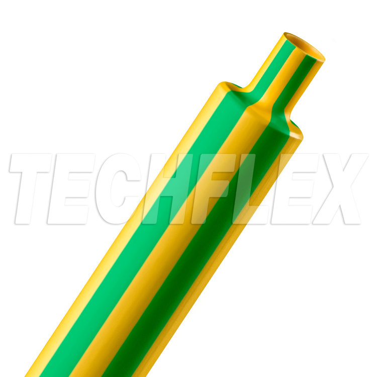 "Shrinkflex® Polyolefin Heatshrink Tubing - 2:1 - 1"" - Yellow/Green"