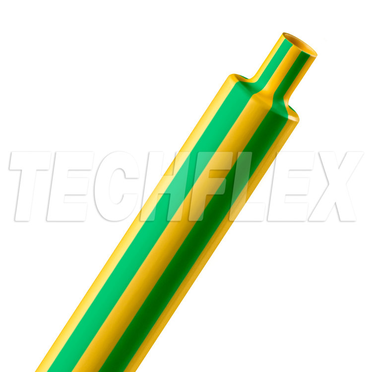 "Shrinkflex® Polyolefin Heatshrink Tubing - 2:1 - 3/4"" - Yellow/Green"