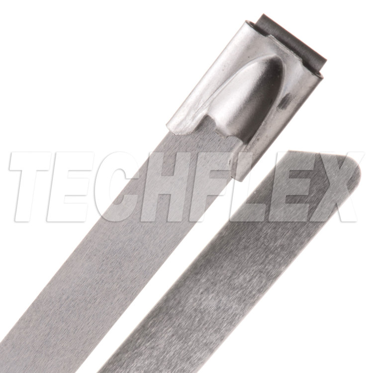 "Heavy Duty 250 lb. Stainless Steel Cable Ties - 20"" - Silver"