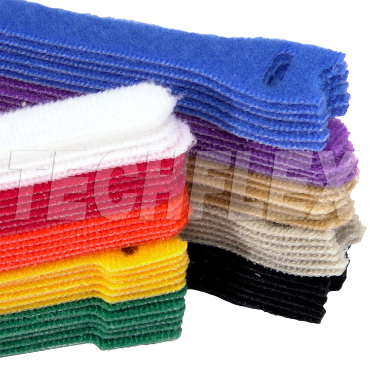 "Color Coding Assortment - 5 each of 10 colors, 12"" VELCRO® Brand ONE-WRAP®"