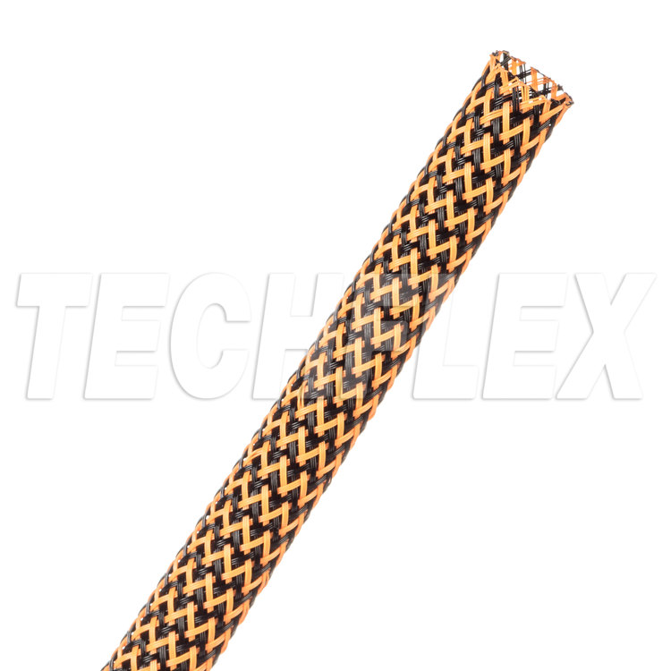 "Flexo® PET Tight Weave - 5/16"" - Black / Neon Orange"