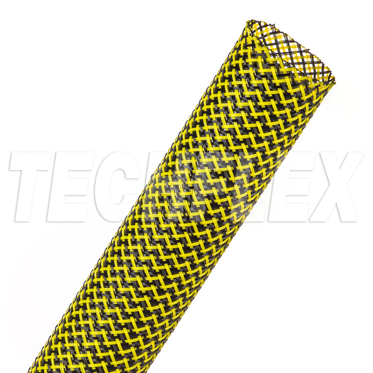 "Flexo® PET Tight Weave - 1"" - Black / Neon Yellow"