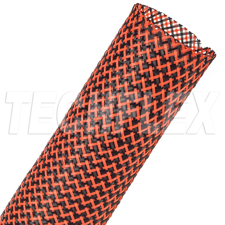"Flexo® PET Tight Weave - 1-1/2"" - Black / Neon Red"
