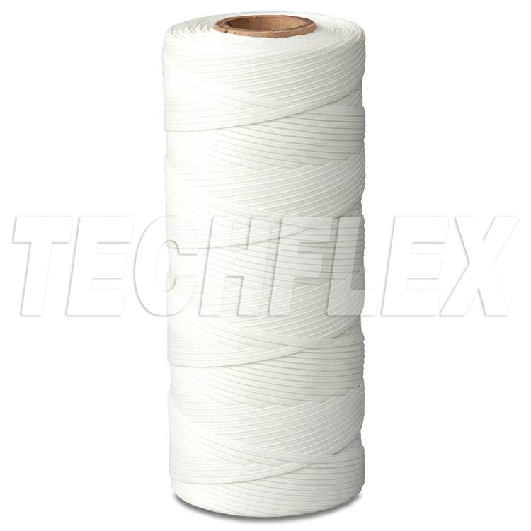 Braided Polyester Lacing Tape - Synthetic Rubber Finish - .045-.055 - Natural