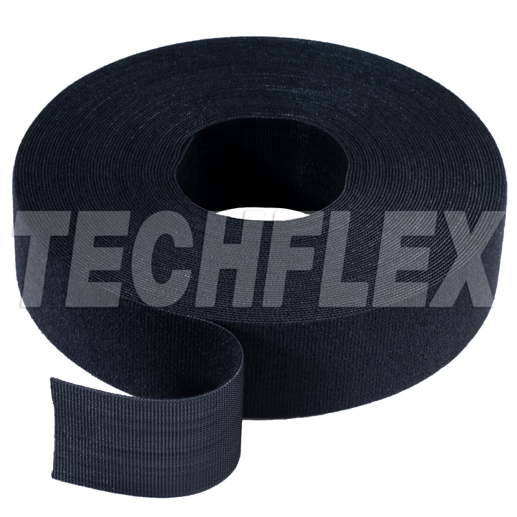 "VELCRO® Brand ONE-WRAP® Tape, 25 yd Roll, 3"", Black"