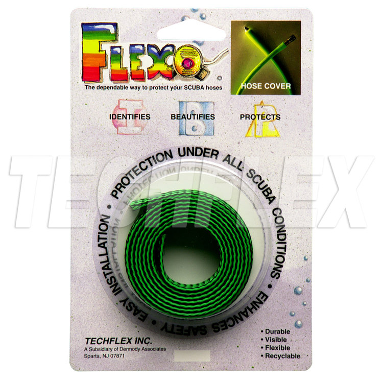 SCUBA Hose Cover, Ogre, Neon Green and Black mix