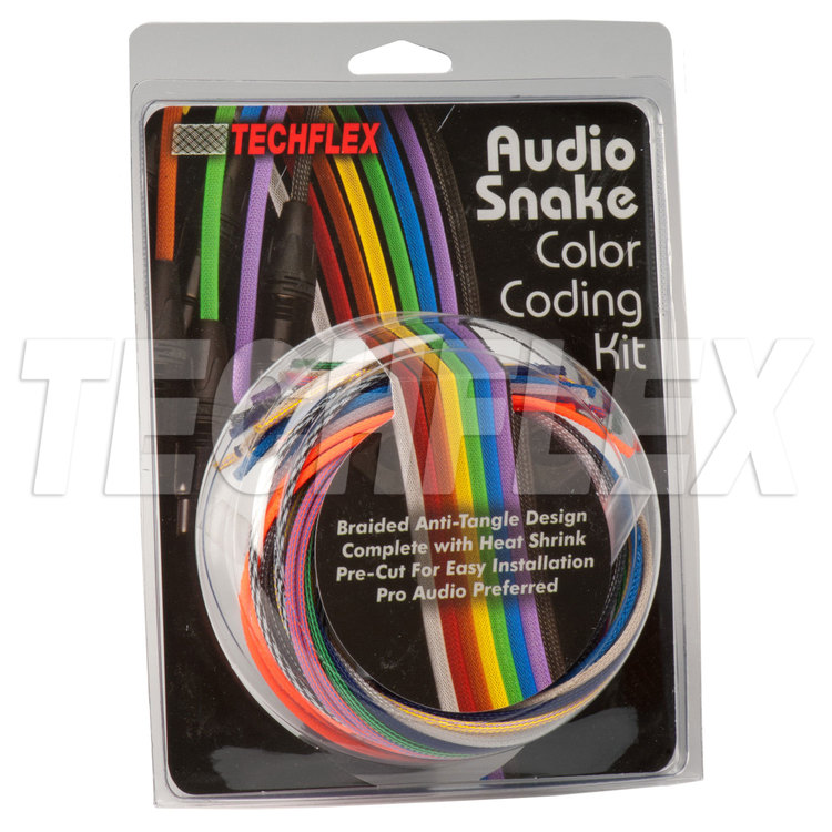"1/8"" Audio Cable Customizing Kit, Premium Colors w/ Clear Heatshrink"