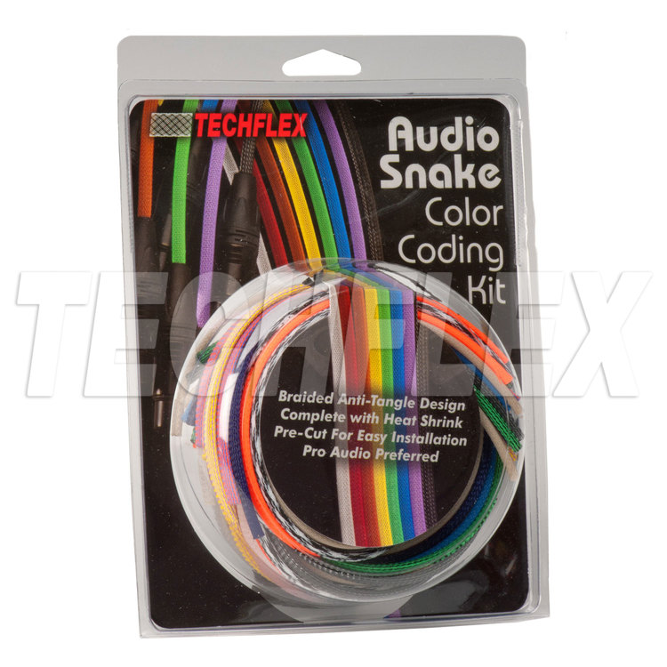 "1/4"" Audio Cable Customizing Kit, Premium Colors w/ Clear Heatshrink"