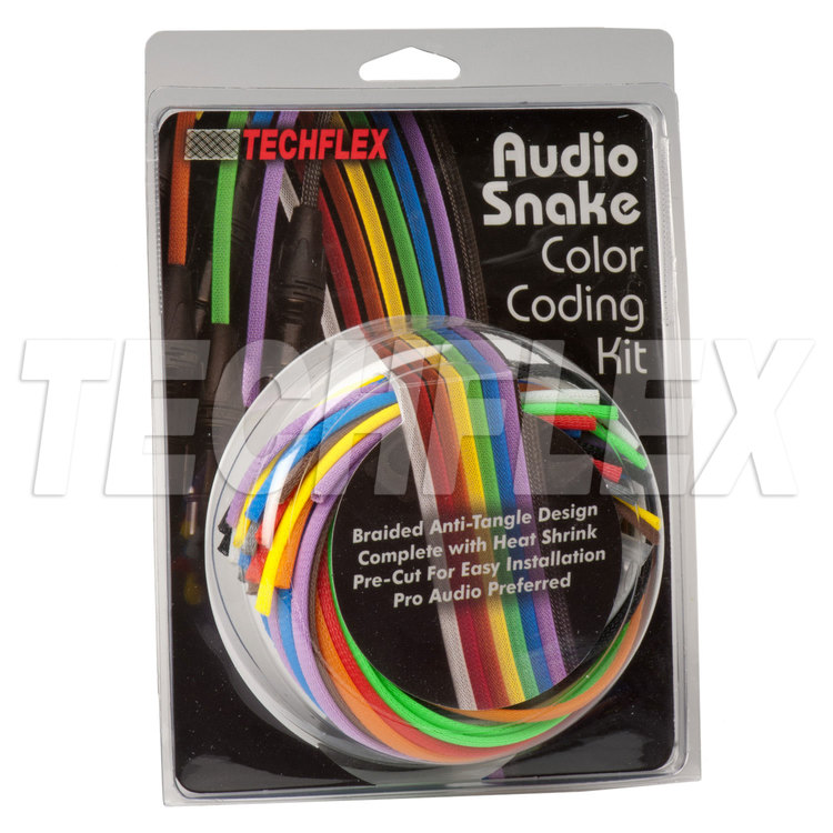 "1/4"" Audio Cable Customizing Kit, Standard Colors w/ Clear Heatshrink"