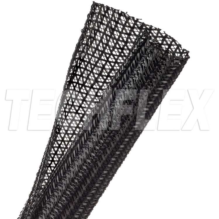 "F6® - Self-Wrapping Braided Sleeving - 1"" - Black"