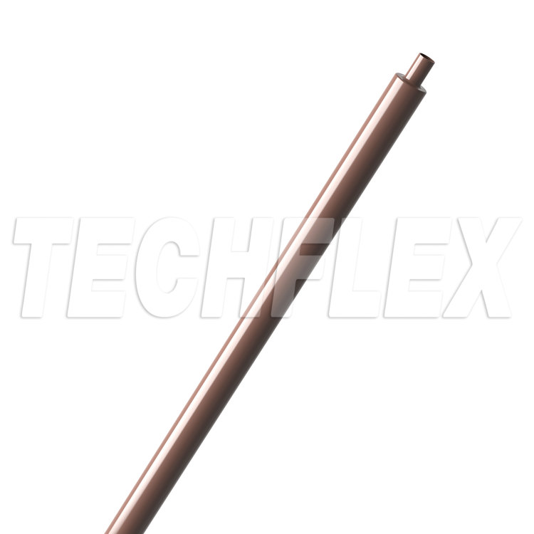 "Shrinkflex® Polyolefin Glossy Heatshrink - 1/8"" - Brown"