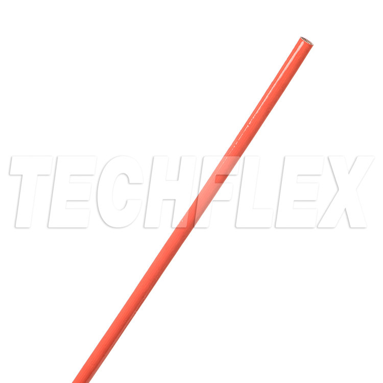 Silicone Flame Retardant Grade C Coated Fiberglass Sleeving - (4.72mm) 5 AWG - Red